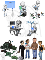 Robots and trolls by Jahary