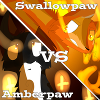 Amberpaw VS Swallowpaw by Litwicke