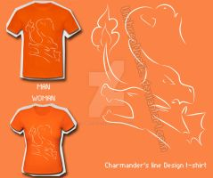 Charmander's Line T-Shirt by UmbreoNoctie