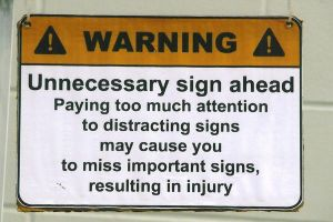 Warning: Unnecessary sign by Furaha015