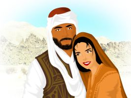 Traditional Balochi Couple by ArsalanKhanArtist