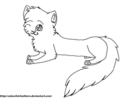 Free MS Paint Cat Lineart/Base by Snow-Leopard-Roxie