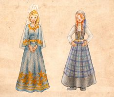 Anna and Elsa: Icelandic Costumes by Ameza