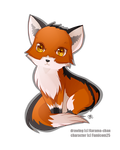 -- Chibi Red Fox comission -- by Kurama-chan