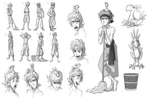 birds nest character sheet by Detkef