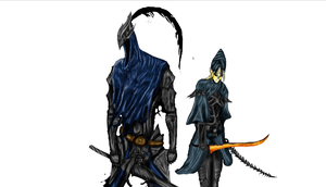 4 Knights of Gwyn picture WIP #2 by tannen97