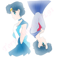 Sailor Moon Challenge Day 2 Ami/Sailor Mercury by TorresAdlinCDL91