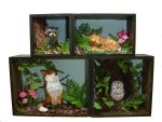 Woodland Animal Shadowboxes by Ethereal-Beings