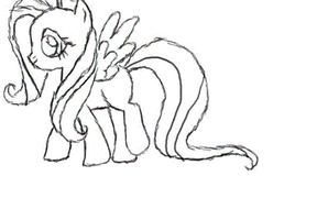 fluttershy animation test by Monopally