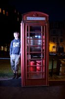 Tom With Bright Telephone Box by missionverdana