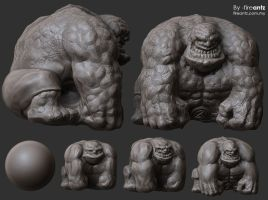 3D Sketch-The Thing-making by fireantz83