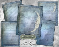 Blue Moon Journal Pages Collection by Jewlgurl