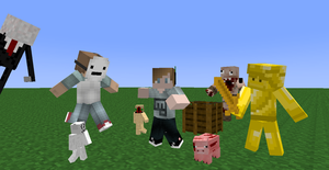 PewDiePie (and Friends) in Minecraft by ClanWarrior