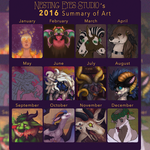 [P] Art Summary of 2016 by Bent3Shek