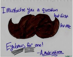 mustache by theAWSOMEpeace