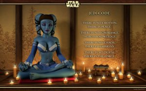 Aayla is meditating by kondaspeter1