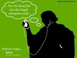 Snape and his iPod by LadyNyaruInfinity