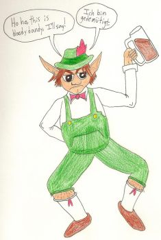 Jomy Wearing Lederhosen by FaerieDragon19