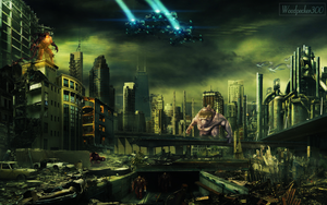 Destroyed City photo manipulation by Woodpecker300