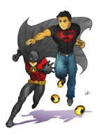 Superboy and Red Robin by wkong