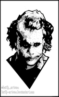 Joker ~ Heath Ledger ~ Doodle by Keith-arts02