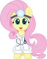 Vector Doctor Fluttershy by KyssS90