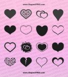 55 Hearts PS Custom Shapes by Shapes4FREE