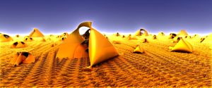Encampment by waste-and-tragedy
