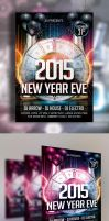 New Years Eve Flyer Template 3 by Arrow3000Graphics