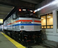 Amtrak F40PH 406 With HEP by JamesT4