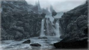Skyrim Waterfall by Solace-Grace