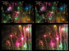 Fireworks Stereo 3D X-View by zour