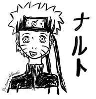 Naruto's Ink Portrait by Fluttershy1989