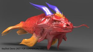 Koi fish Dragon using keyshot2 by RageVortex