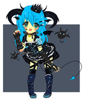 Custom Adoptable:  Loli demon knight by Ayuki-Shura-Nyan
