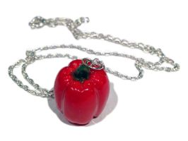 Bell Pepper Necklace/Charm by delectablycharming