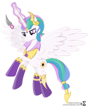 Evil Princess Celestia by 90Sigma
