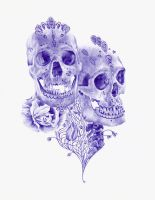Blue ballpoint pen drawing 2 by PaulAlexanderThornto
