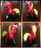 Mini MLP Harley Quinn Custom by StephanieCassataArt