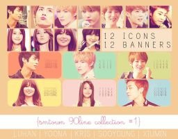 Smtown 90line Banner and Icon Set #1 by sayhellotothestars