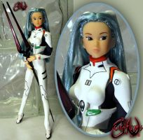 Evangelion Rei Ayanami Custom Doll by jvcustoms