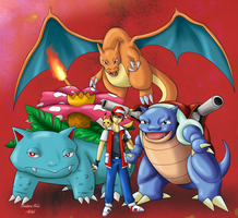 Pokemon Master Red by DeidaraEmoArtist