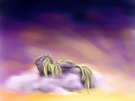 Sleeping Derpy by Nemo2D