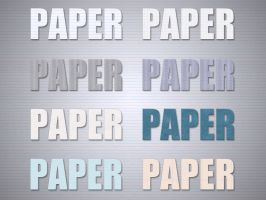 Paper Styles -FREE- by Xiox231