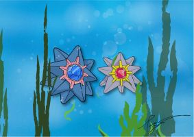 Starmie in the Seaweed by FraankBiebs