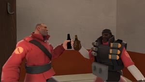 TF2: Soldier and Demo Toast by penguinlove2506
