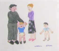 The Dursleys and baby Harry by Selfsecret