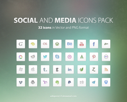 Social and Media icons pack by anhgreen123