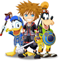 Kingdom Hearts 3 - Sora, Donald and Goofy by SergiART