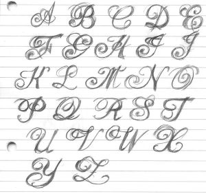 Fancy Tattoo Letters